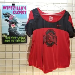Nike Red and Black Ohio State Buckeyes XXL T Shirt